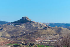 Breathtaking view of Morella. Spain Royalty Free Stock Photo