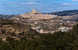 Breathtaking view of Morella town. Spain Royalty Free Stock Photo