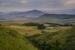 Breathtaking view of the mountains in Drakensberg, South Africa, Royalty Free Stock Photography