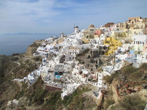 Breathtaking view of Oia Village Landscape over the Caldera, Santorini Island Royalty Free Stock Photography