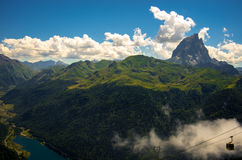 Breathtaking view over the mountains of Pyrenees, France Stock Images
