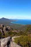 Breathtaking view over wineglass bay  from the lookout at coles bay Stock Image