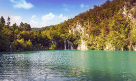 Breathtaking view in the Plitvice Lakes National Park Royalty Free Stock Photography