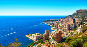 Breathtaking view of the Principality of Monaco Stock Images
