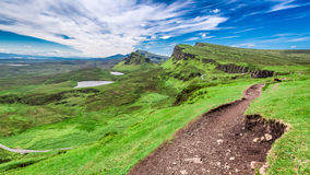 Breathtaking view from Quiraing in Isle of Skye, Scotland, UK Stock Images