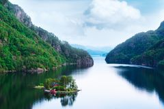 Breathtaking view of small island stock photography