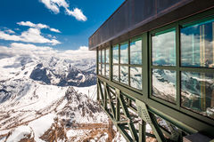 Breathtaking view from summit of Sass Pordoi, Dolomites, Italy, Europe. Breathtaking view from summit of Sass Pordoi, Dolomites, Italy Stock Photos