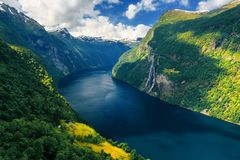 Breathtaking view of Sunnylvsfjorden fjord Royalty Free Stock Photography