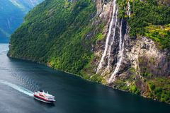 Breathtaking view of Sunnylvsfjorden fjord Royalty Free Stock Photos