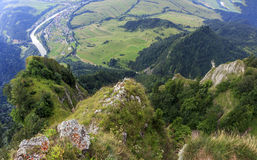 Breathtaking view from Three Crown Mountain, Pieniny Royalty Free Stock Image