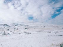 Breathtaking view of Valley in winter season, Cappadocia nationa Royalty Free Stock Images