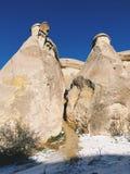 Breathtaking view of Valley in winter season, Cappadocia nationa Stock Photos