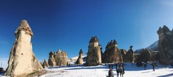 Breathtaking view of Valley in winter season, Cappadocia nationa Stock Photography