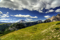 Breathtaking views from the dolomites Royalty Free Stock Photography