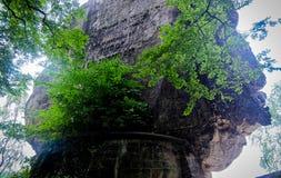 The Breathtaking views from the famous Bastei Bridge Royalty Free Stock Photo