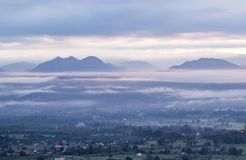Breathtaking Views In The Morning At Yun Lai Viewpoint,Pai,Mae Hong Son,Northern Thailand. Stock Images