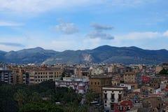 Breathtaking widok budynki mieszkalni od dachu Palermo katedra palermo sicily Fotografia Royalty Free