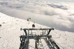 Breathtaking widok Jasna skłony od Chopok szczytu Zdjęcia Royalty Free