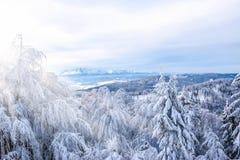 Breathtaking zimy góry krajobraz Zdjęcie Royalty Free