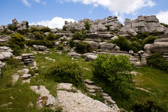 Breautiful view of nature reserve El Torcal Royalty Free Stock Image