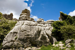 Breautiful view of nature reserve El Torcal Stock Image