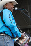 Geno Delafosse & French Rockin Boogie. BREAUX BRIDGE, LOUISIANA, May 2, 2015 : Geno Delafosse & French Rockin' Boogie plays during Crawfish Festival in Royalty Free Stock Photos
