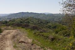 Breaza, Prahova, Rumania vista desde arriba Fotografía de archivo libre de regalías