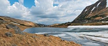 Brebenescul Lake at spring Stock Photography