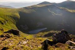 Brebeneskul湖,喀尔巴阡山脉 库存图片