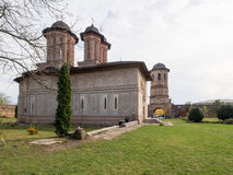 Brebu Monastery. Monastery in Brebu, Prahova county, Romania Stock Photo