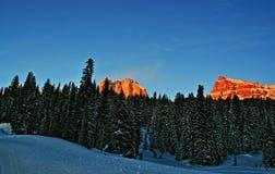 Breccië en Sublette-Pieken op Togwotee-Pas in Wyoming stock foto