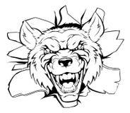 Brecha de la mascota del lobo Imágenes de archivo libres de regalías