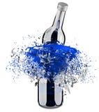 Brechen der Flasche Lizenzfreie Stockbilder