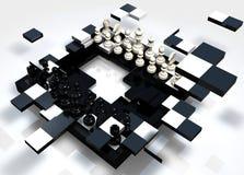 Brechen des Schachs Stockfoto