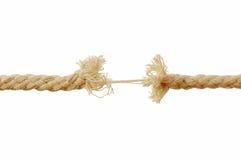 Brechen des Seils lizenzfreies stockbild