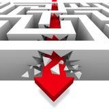 Brechen durch das Labyrinth zur Freiheit Lizenzfreie Abbildung