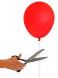 Brechen Sie frei- Schnittballonfreiheit, geben Sie Metapher frei Lizenzfreie Stockfotos