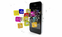 Brechen von apps stock abbildung