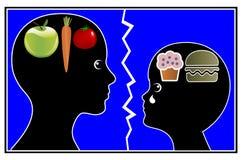 Brechen von schlechten Essgewohnheiten stock abbildung