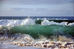 Brechende Welle Stockbild