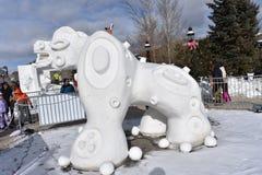 Breckenridge, Κολοράντο, ΗΠΑ: Στις 28 Ιανουαρίου 2018: culture de Λα aguada γλυπτό χιονιού από την ομάδα Αργεντινή Στοκ Φωτογραφία
