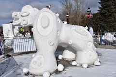 Breckenridge, Κολοράντο, ΗΠΑ: Στις 28 Ιανουαρίου 2018: culture de Λα aguada γλυπτό χιονιού από την ομάδα Αργεντινή 2018 Στοκ εικόνες με δικαίωμα ελεύθερης χρήσης