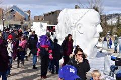 Breckenridge, Колорадо, США: 28-ое января 2018: Чемпионаты скульптуры снега Breckenridge ежегодные Стоковые Изображения RF