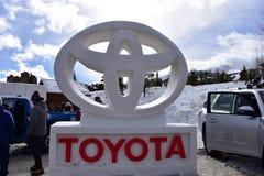 Breckenridge, Колорадо, США: 28-ое января 2018: 28th ежегодная международная скульптура снега Стоковое Изображение RF