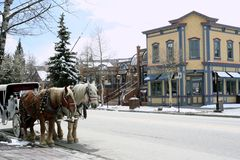 breckenridge center colorado besökare royaltyfri bild