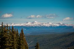 Breckenridge Colorado. Ski Resort and playground royalty free stock image