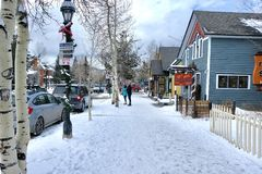 Breckenridge, Colorado Main Street Royalty-vrije Stock Afbeeldingen