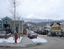 Breckenridge, Colorado Main Street Royalty-vrije Stock Afbeelding