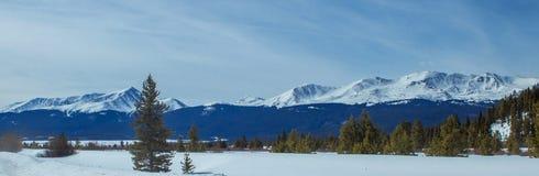 Breckenridge Colorado Mountain Range. Wintertime and snow stock photography