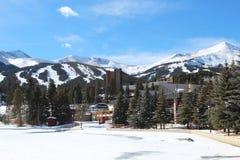 Breckenridge, Colorado. The snowy slopes of Breckenridge, Colorado stock image